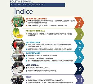 Boletín Semanal Perú Exporta: Empresas que dejaron de exportar sumaron 1,920